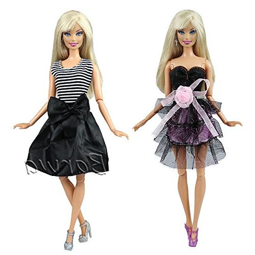 Barwa Mini Clothes Outfits Barbie Doll and