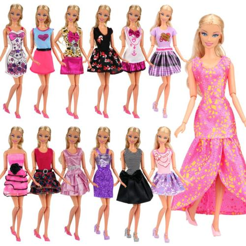 Barwa Mini Clothes Barbie and Random of 12pcs