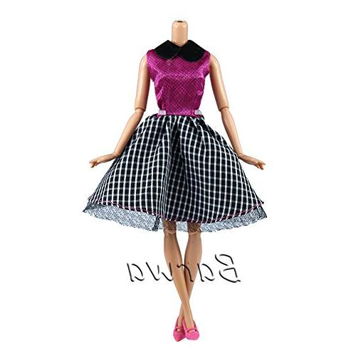 = 5 Sets Fashion Casual Wear Clothes/outfit 10 Barbie Doll