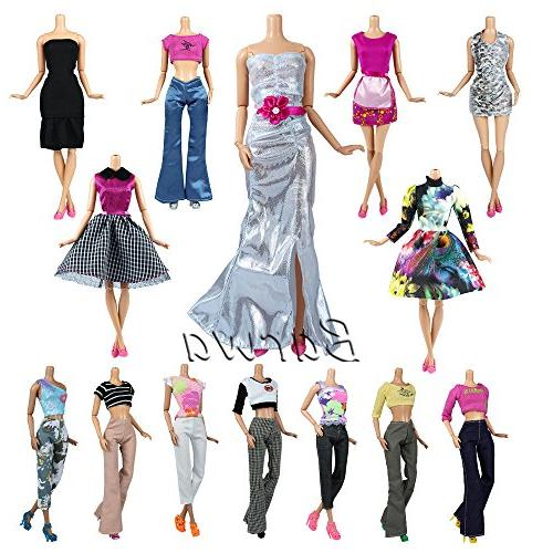 Barwa items Casual Wear Clothes/outfit 10 Pair Shoes Barbie
