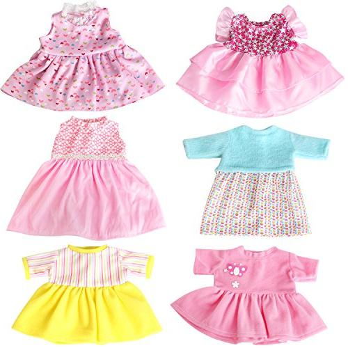 rainbow 6 Doll Clothes Colorful Handmade Dresses Daily Costumes Fits 12'' 14'' 15'' Baby Doll