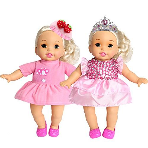 rainbow yuango of 6 Doll Clothes Colorful Dresses Daily Costumes Fits 12'' 13'' 14'' 15'' Baby