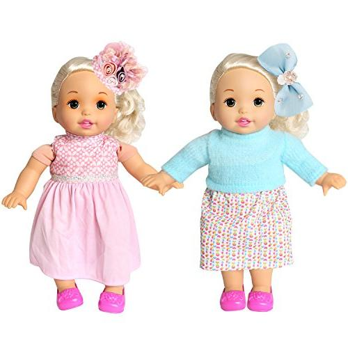 rainbow Pack of 6 Bitty Alive Doll Dresses Daily Costumes Gown Set Fits 13'' 14'' 15''