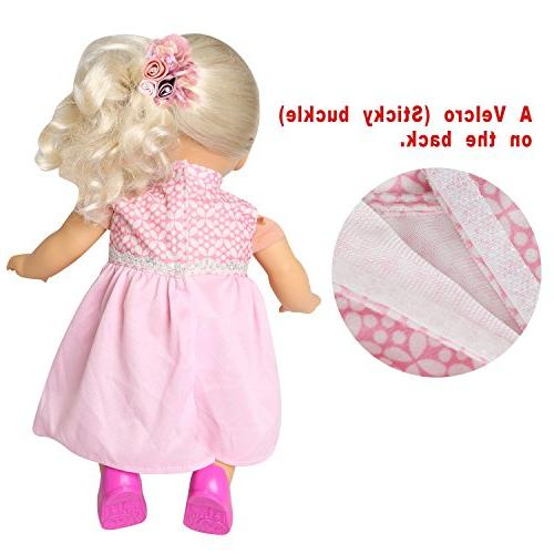 rainbow Pack 6 Bitty Baby Doll Clothes Colorful Dresses Daily Costumes Fits 15''