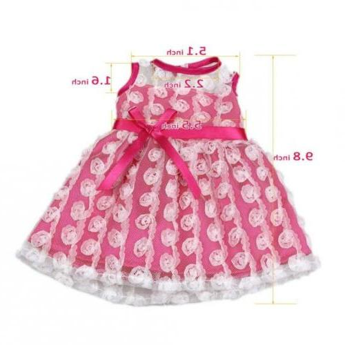 AOFUL Bitty Clothes Pink Summer Dress