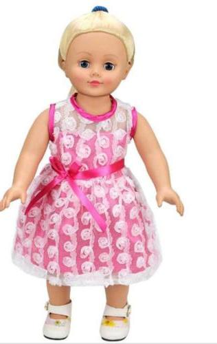 AOFUL Bitty Baby Clothes Pink Summer Dress Fits