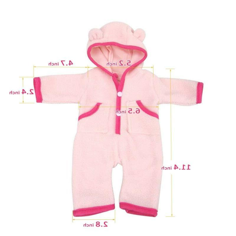Bitty baby Doll Clothes, AOFUL Mini Design Pajamas Outfit I