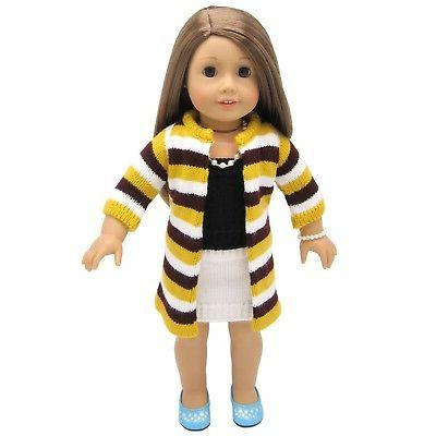 AOFUL Bitty Doll Sweater Coat, Fits More