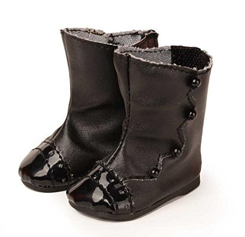 black leatheroid boots fit american