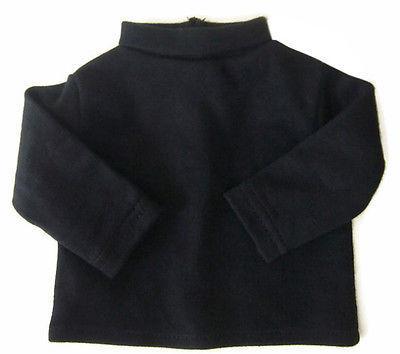 "Black Long Sleeve T-Shirt Turtleneck fits 18"" American Girl"