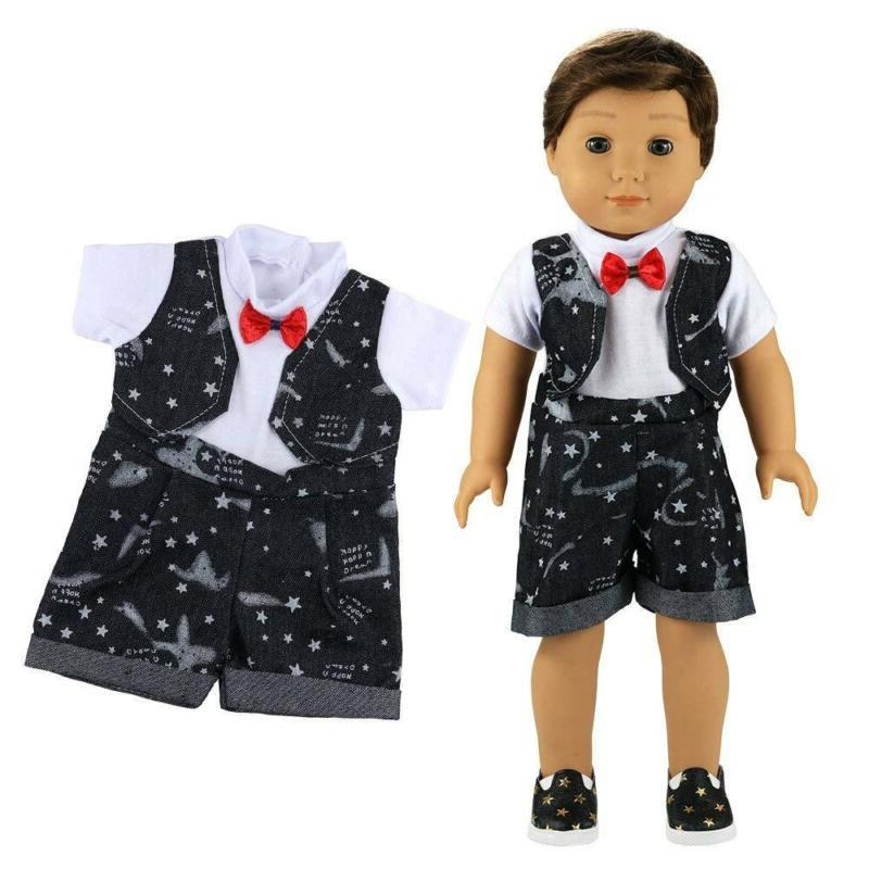 Barwa Boy Doll Clothes 5Sets Pairs Pair Glasses For