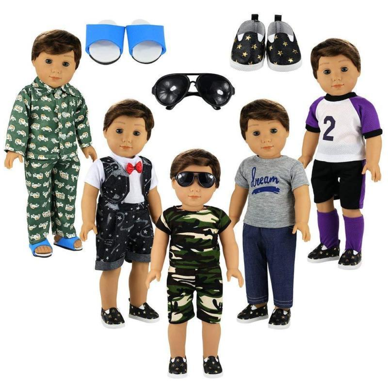 Barwa Boy Clothes 5Sets Boy Doll Pairs Pair