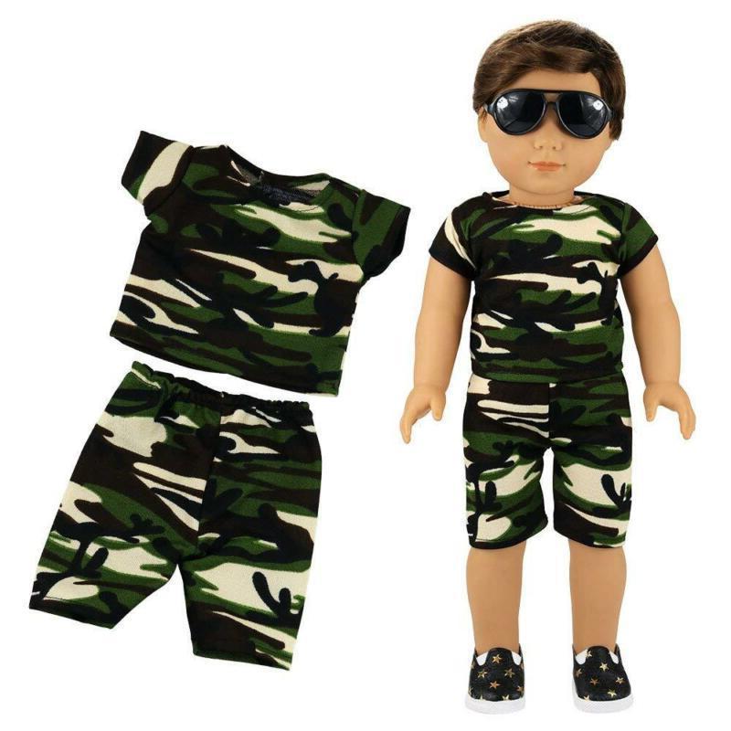 Barwa Boy Doll 5Sets Boy Doll Pair Glasses For