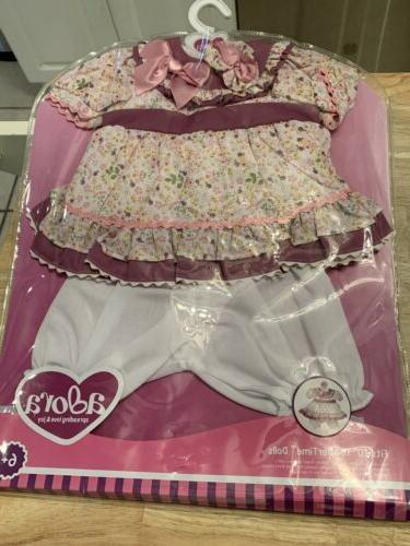 brand new toddler time floral doll outfit
