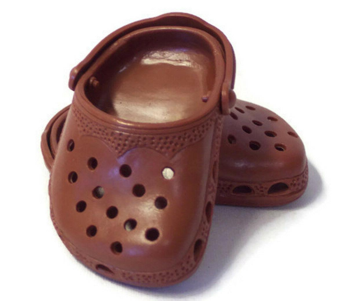 brown duc shoes fits 18 inch american