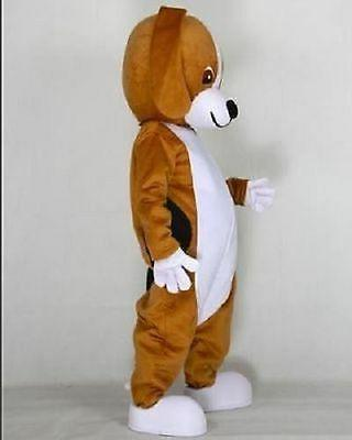 Brown hount Dog Mascot cartoon clothing