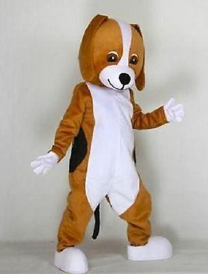 brown hount dog adult mascot cartoon costume