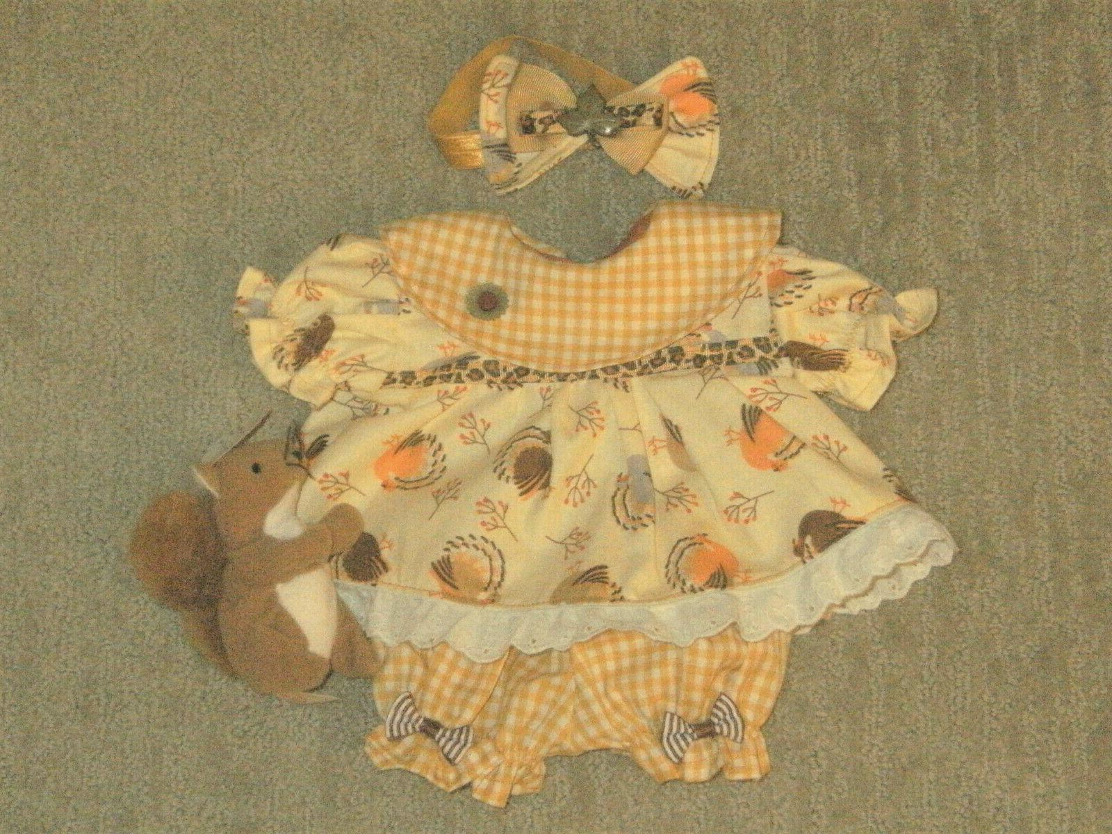 Cabbage Patch Doll Clothes/Outfit~Thanksgiving Panties Headband