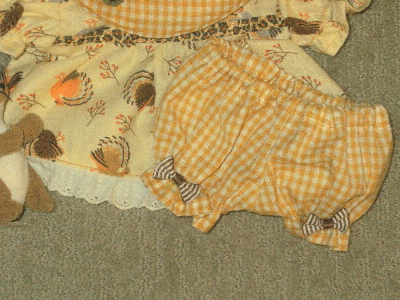 """Cabbage 16"""" Clothes/Outfit~Thanksgiving Turkey Headband"""