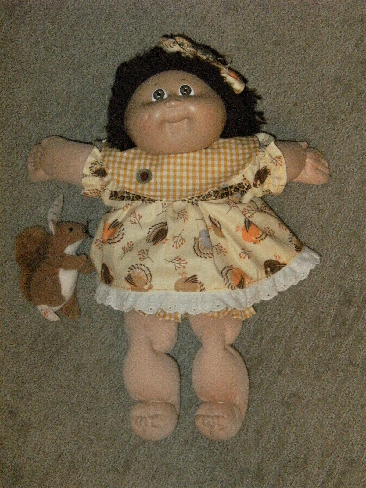 """Cabbage 16"""" Doll Clothes/Outfit~Thanksgiving Turkey Dress Headband"""