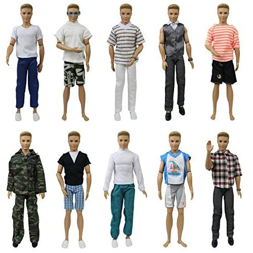 ZITA 5 Fashion Casual for Boyfriend 12 Doll Accessories