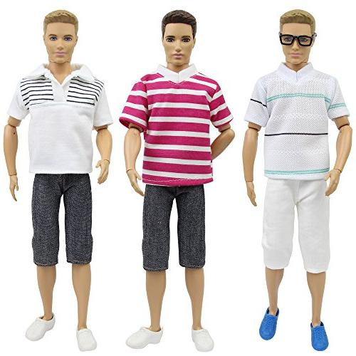 ZITA 5 Sets Fashion for Doll Boyfriend 12 Accessories