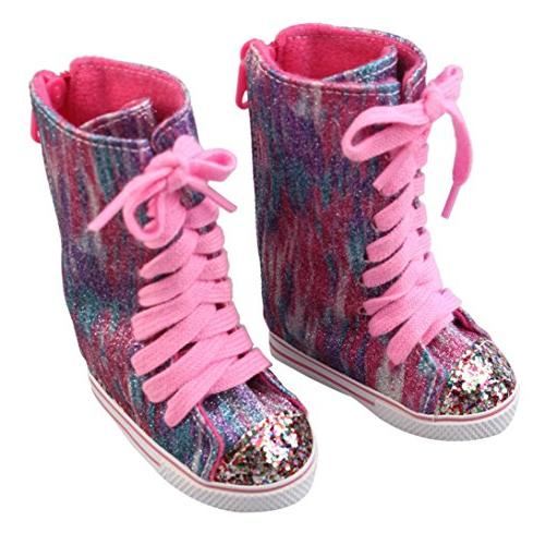 WensLTD Clearance! Glitter Shoes Boots For 18 American Girl