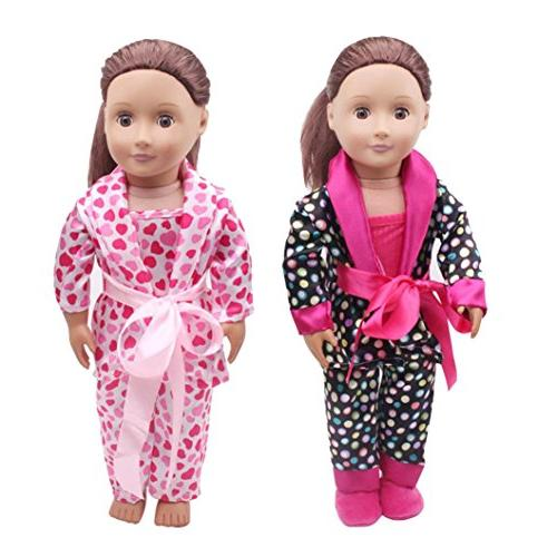 WensLTD Lovely Pajamas Shoes for 18inch American Our Dolls
