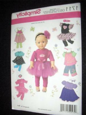 Simplicity Crafts Doll Clothes-One Size