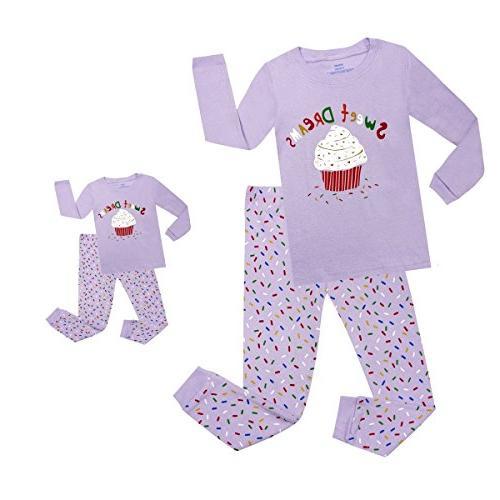 cupcake matching doll toddler pjs