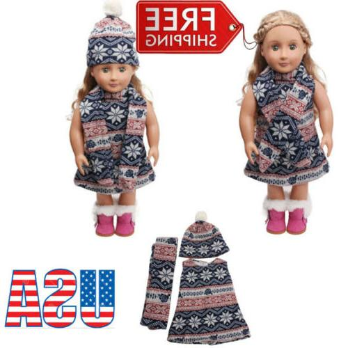 cute doll clothes set for 18 american
