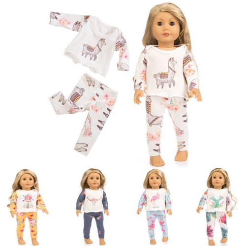cute printing pajamas suit doll clothes