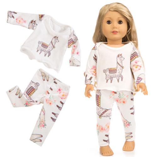 Cute Pajamas Doll Clothes Inches Girl Gift