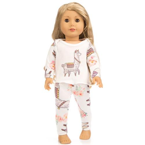 Cute Printing Doll Clothes Inches Girl Accessories Gift