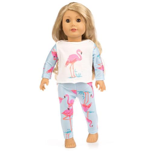 Cute Printing Pajamas Suit Doll Clothes Inches Girl Doll Gift