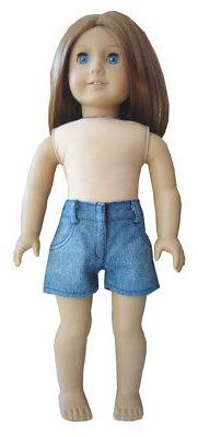 "Denim Summer Shorts for 18"" American Girl Doll Clothes"