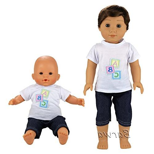 Barwa Doll Clothes Daily Clothes Outfits Compatible to Doll Inch Boy