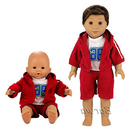 Barwa 6 Clothes Daily Casual Outfits for to Doll Inch Boy Dolls