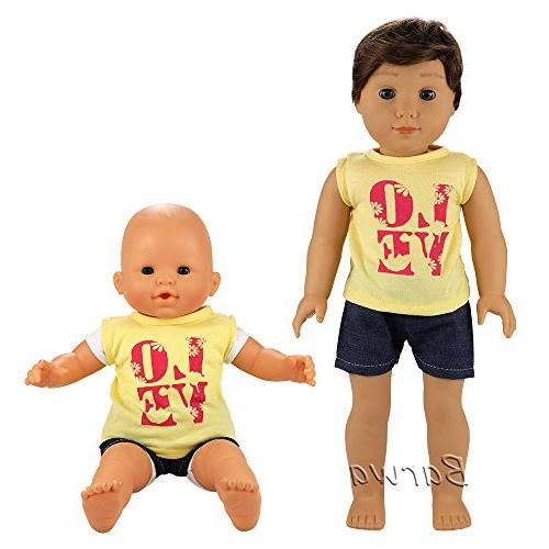 Barwa Boy 6 Boy Clothes Casual Outfits for to Doll 18 Inch Boy