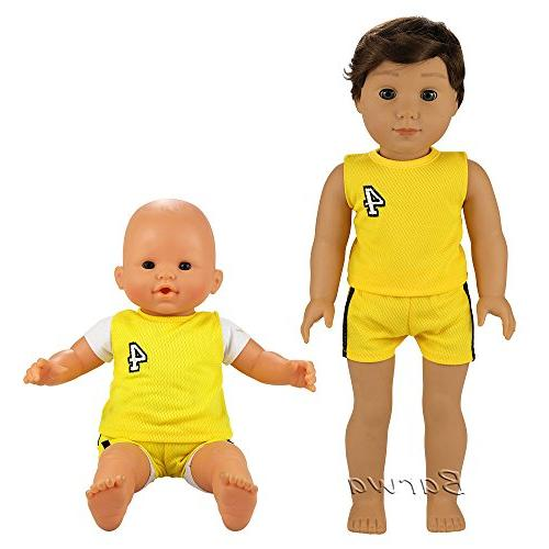 Barwa Clothes 6 Sets Clothes Casual Outfits Compatible to Doll 18 Boy Dolls