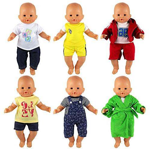Barwa 6 Outfits Compatible 14 to Inch Boy
