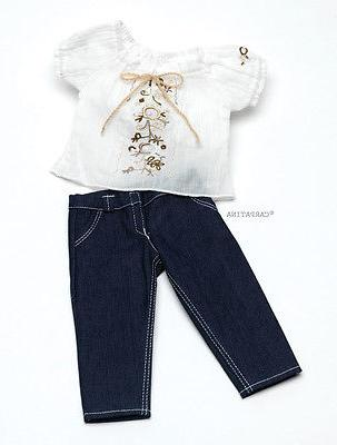 """Doll Clothes 18"""" Jeans Blouse by Carpatina Fits American Gir"""