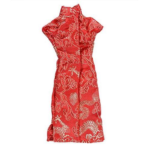 elegantstunning Doll Cheongsam Dress for Red
