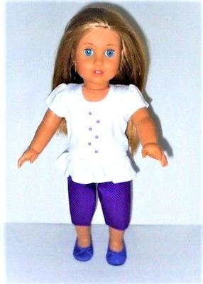 "Doll Clothes 18"" Pants Polka Top Fits 18"" AG"
