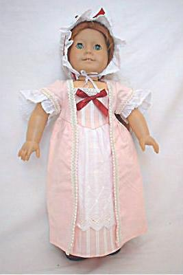 "Doll Clothes 18"" Colonial Dress Pink Girl"