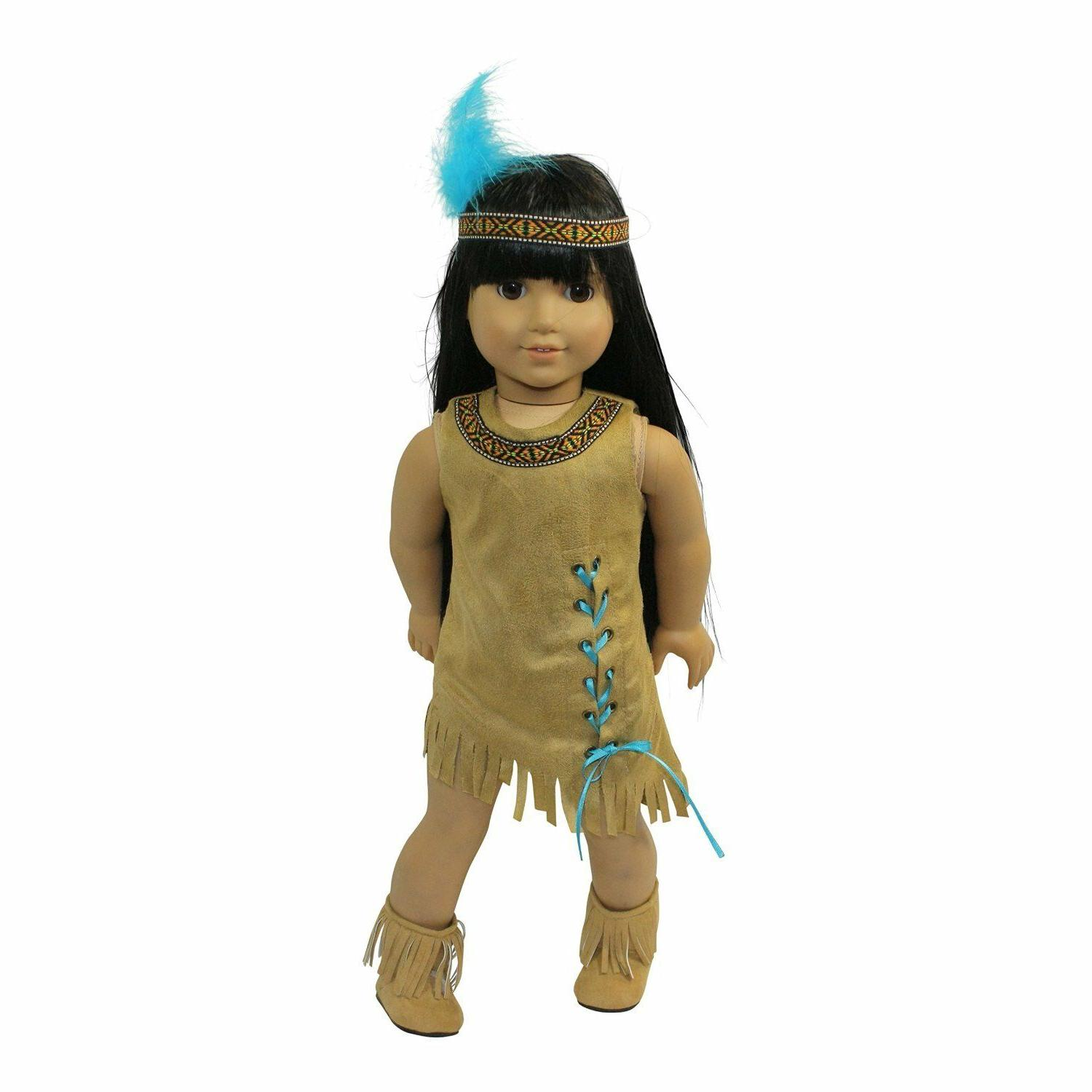doll clothes 18 dress native american indian