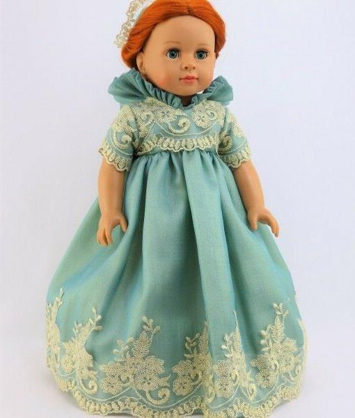 """Doll Clothes 18"""" Dress Royal English Court Mint Fits 18"""" Ame"""