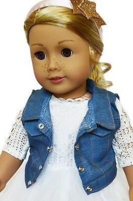 Doll Dress White Jean Fits American Girl