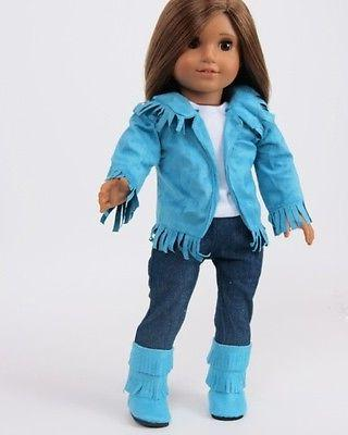 Doll Clothes Teal Suede 4 American Girl