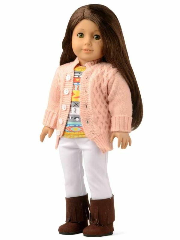 doll clothes 4pc sweater cardigan set